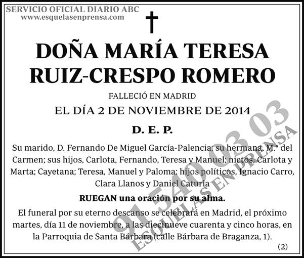 María Teresa Ruiz-Crespo Romero